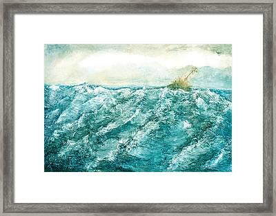 wave V Framed Print by Martine Letoile
