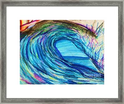 Wave Variation Framed Print by Jamey Balester