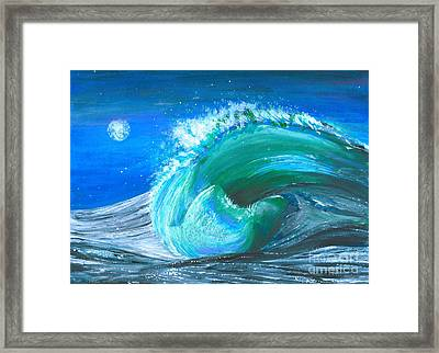 Wave Framed Print by Veronica Rickard