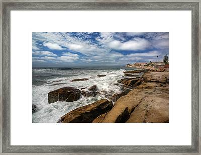 Wave Wash Framed Print