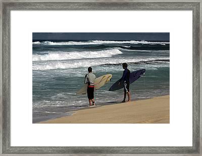 Wave Watch Framed Print