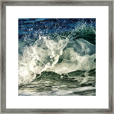 Wave1 Framed Print