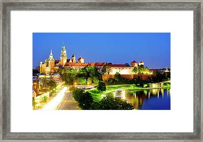 Framed Print featuring the photograph Wavel Castle by Fabrizio Troiani