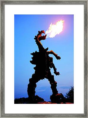 Framed Print featuring the photograph Wavel Dragon by Fabrizio Troiani