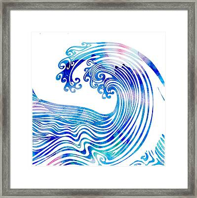 Waveland Framed Print