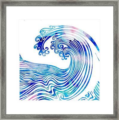 Waveland Framed Print by Stevyn Llewellyn