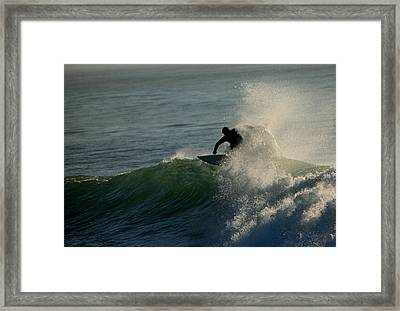 Waverider Framed Print by Mike Coverdale