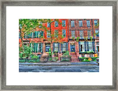 Waverly Place Townhomes Framed Print by Randy Aveille