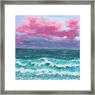 Waves 4 Framed Print by Alex Mortensen