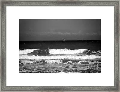Waves 4 In Bw Framed Print