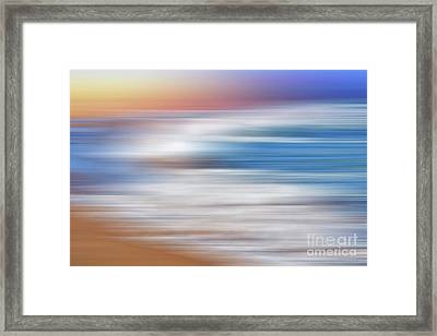 Waves Abstraction By Kaye Menner Framed Print by Kaye Menner