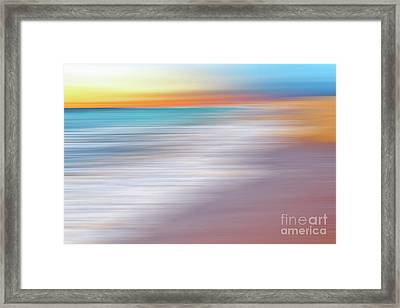 Waves Abstraction II By Kaye Menner Framed Print by Kaye Menner