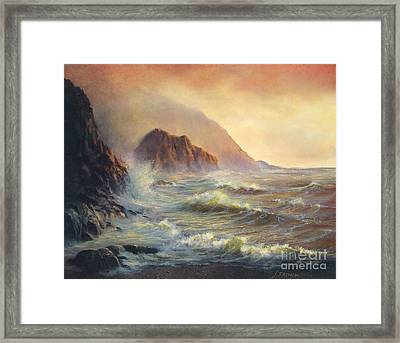 Waves After The Storm Framed Print by Jeanette French