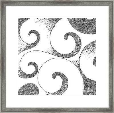 Waves Altered In Black And White Framed Print