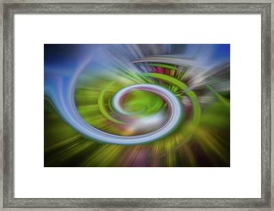 Waves And Light Framed Print