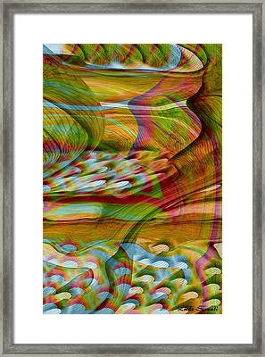 Waves And Patterns Framed Print by Linda Sannuti