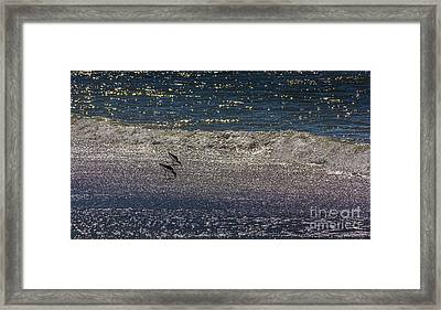 Waves And Sparkling Sand Framed Print