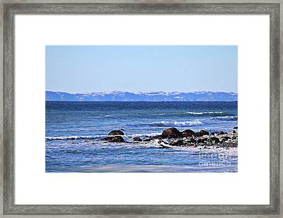 Waves At Argentia  Framed Print by Barbara Griffin