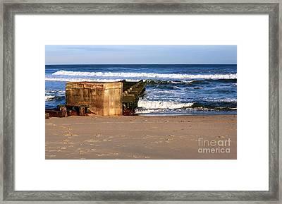 Waves At Asbury Park Beach Framed Print