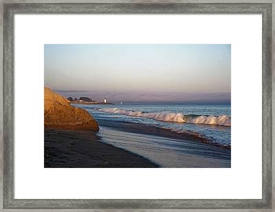 Waves At Santa Cruz Framed Print