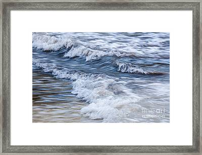 Waves At Shore Framed Print by Elena Elisseeva