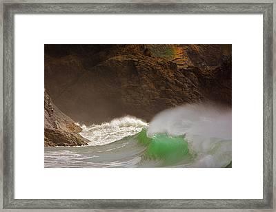 Waves At Waikiki Framed Print