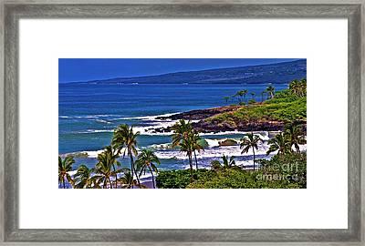 Waves Breaking At Hapuna Beach Framed Print