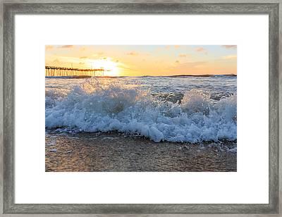 Waves Framed Print by Bryan Bzdula