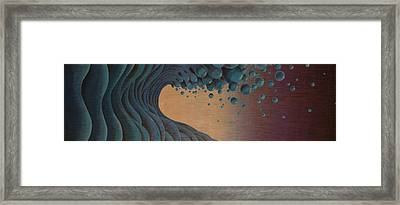 Waves Crashing Framed Print by Tim Foley