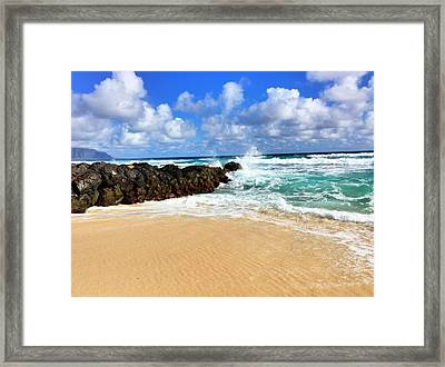 Framed Print featuring the photograph Waves Crashing by Todd Aaron