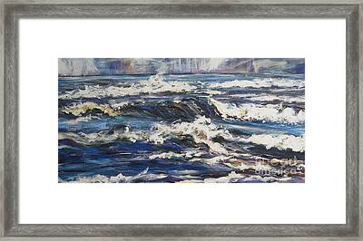 Framed Print featuring the painting Waves by Debora Cardaci
