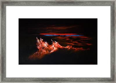 Waves Framed Print by DEVARAJ DanielFranco