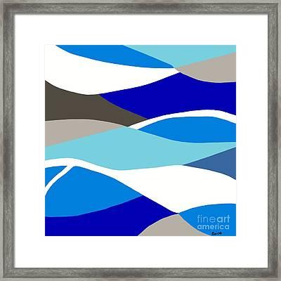 Waves Framed Print by Eloise Schneider