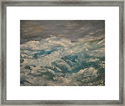 Framed Print featuring the painting Waves by Evelina Popilian