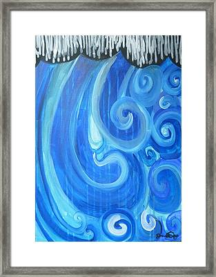 Framed Print featuring the painting Waves Graffiti By Janelle Dey by Janelle Dey