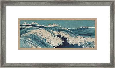 Waves - Hato Zu By Uehara Konen Framed Print by War Is Hell Store