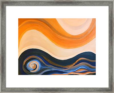 Waves Framed Print