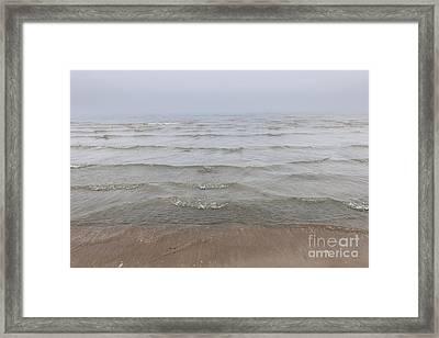 Waves In Fog Framed Print by Elena Elisseeva