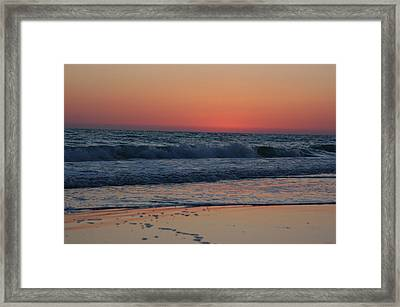 Waves In The Gulf Of Mexico Framed Print
