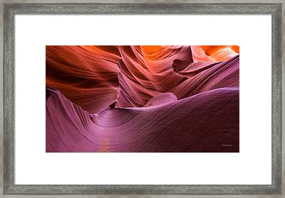 Waves-lower Antelope Canyon Framed Print