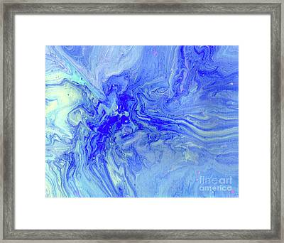 Waves Of Blue Framed Print by Desiree Paquette