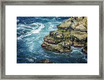 Waves Of Blue Framed Print