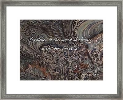 Waves Of Change Framed Print