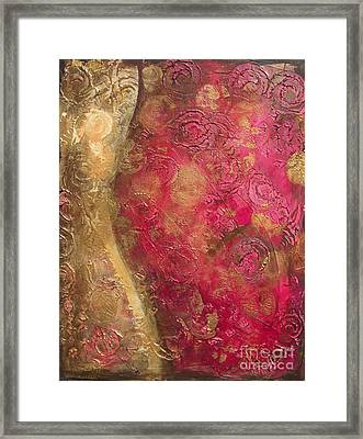Waves Of Circles On Fuchsia Framed Print