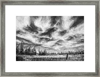 Waves Of Clouds II Framed Print