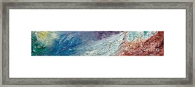 Waves Of Color Framed Print by Gallery Messina