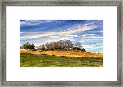 Waves Of Earth And Sky Framed Print by Bill Tiepelman