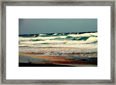 Waves Of Florida Framed Print by Louis Meyer