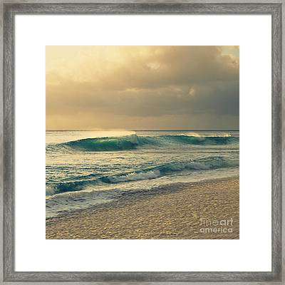 Waves Of Light - Hipster Photo Square Framed Print