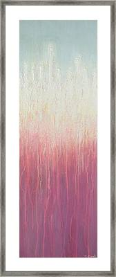 Framed Print featuring the painting Waves Of Lights by Jaison Cianelli
